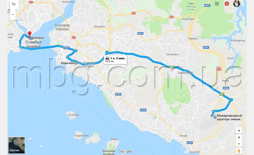 карта стамбул
