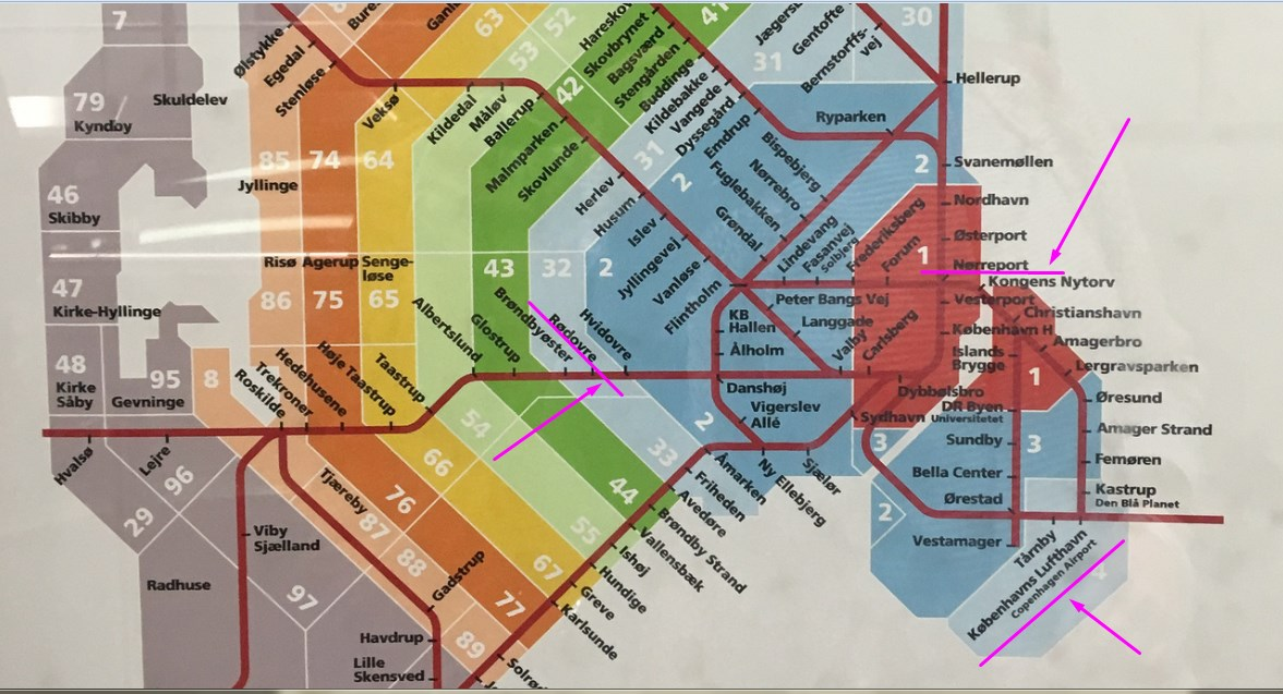 поезда копенгагена карта станций
